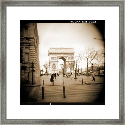 A Walk Through Paris 3 Framed Print by Mike McGlothlen