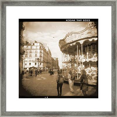 A Walk Through Paris 4 Framed Print by Mike McGlothlen
