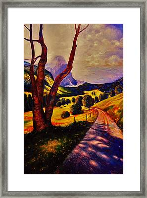 A Walk Through The Mountains Framed Print