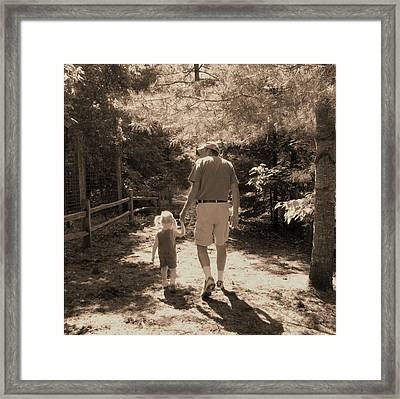 A Walk With Papa Framed Print by Laurianne Nash
