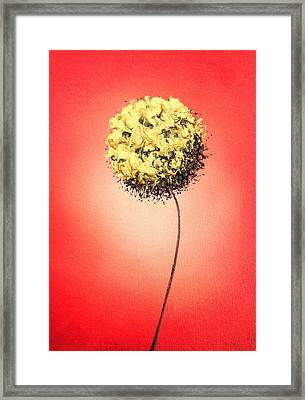 A Wallflower's Dance Framed Print by Rachel Bingaman