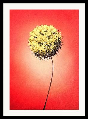 Red And Gold Walls Framed Prints