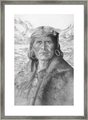 A Walpi Man - The Vanishing Culture Framed Print by Steven Paul Carlson