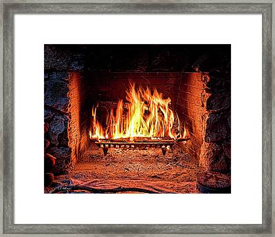 A Warm Hearth Framed Print