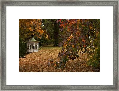 A Washington Crossing Autumn Framed Print by Elsa Marie Santoro