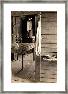 A Washstand In The Dog Run And View Framed Print