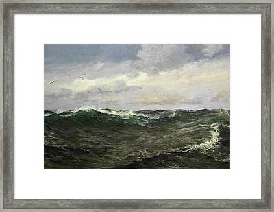 A Waste Of Waters Framed Print by Charles Napier Hemy