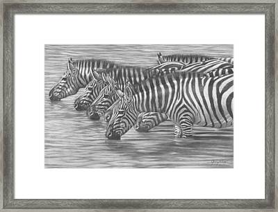 A Watchful Drink Framed Print