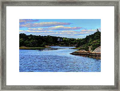 Framed Print featuring the photograph A Water View Newport Ri by Tom Prendergast
