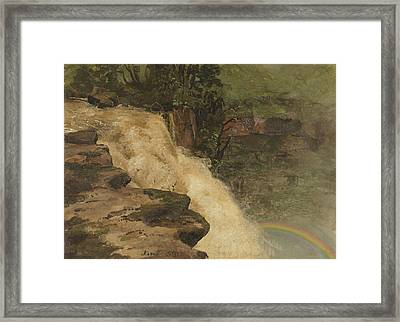 A Waterfall In Colombia Framed Print by Frederic Edwin Church