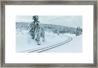 A Way In The Magic Winter Wonderland Framed Print by Andreas Levi