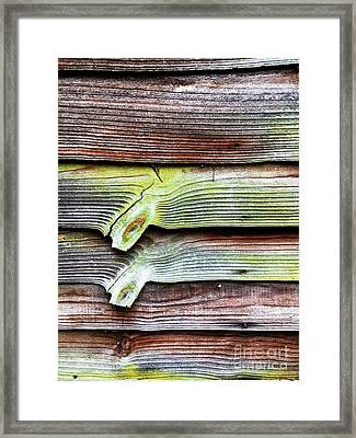 A Weathered Fence Framed Print