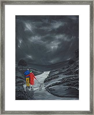 Framed Print featuring the painting A Wee Bijou Strollette by Scott Wilmot