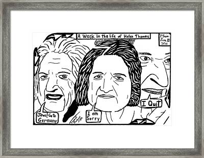 A Week In The Life Of Helen Thomas By Yonatan Frimer Framed Print by Yonatan Frimer Maze Artist