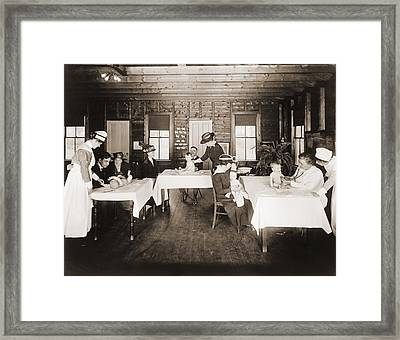 A Well Baby Clinic In Framingham Framed Print by Everett