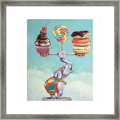 A Well-balanced Diet Framed Print