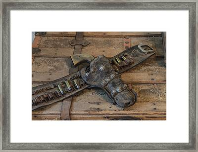 A Well-worn Holster And Revolver Framed Print by Carol M Highsmith