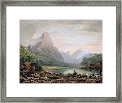 A Welsh Valley Framed Print by John Varley