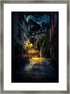 A Wet Evening In Marburg Framed Print
