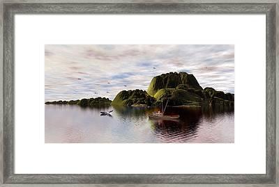A Whales Tail By John Junek Framed Print by John Junek