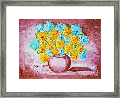 A Whole Bunch Of Daisies Framed Print by Ramona Matei