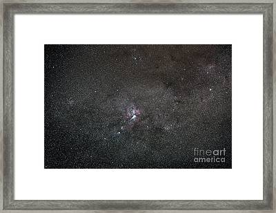 A Wide Field View Centered On The Eta Framed Print by Luis Argerich