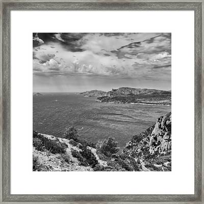 A Wild Summer Day In Mono - Square Framed Print by Georgia Fowler