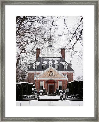 A Williamsburg Winter's Snow Framed Print by R Morrison