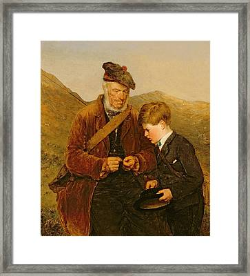 A Willing Pupil Framed Print by Erskine Nicol