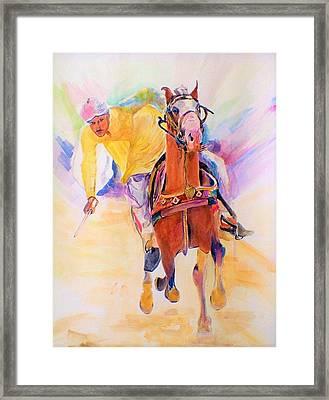 A Win Framed Print by Khalid Saeed