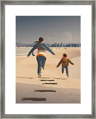 A Wind Of Freedom Framed Print by Adam Gaba