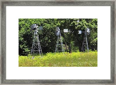A Wind Vane Convention Framed Print by Linda McAlpine