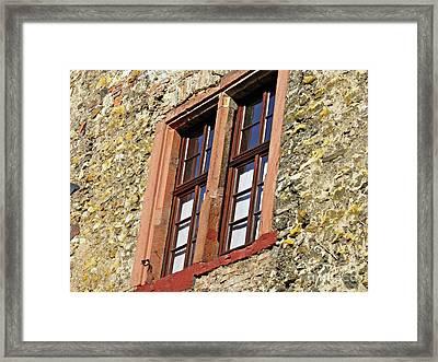 A Window In Eltville  4 Framed Print by Sarah Loft