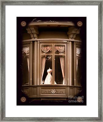 A Window Lost In Time Framed Print by Laura Iverson