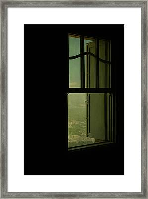 A Window Out To The Sea Framed Print by Valmir Ribeiro