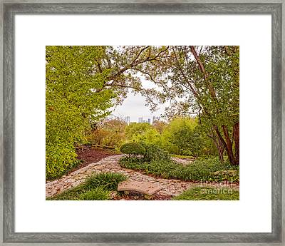 A Window To Downtown Austin From Zilker Botanical Garden - Austin Texas Hill Country Framed Print by Silvio Ligutti