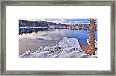 Framed Print featuring the photograph A Winter Day On West Lake by David Patterson