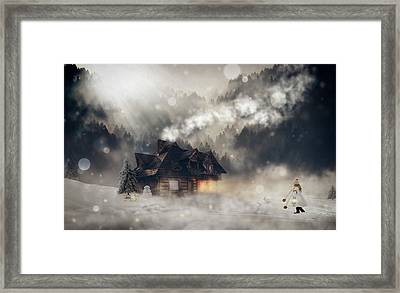 A Winter Fantasy Framed Print by Pixel2013