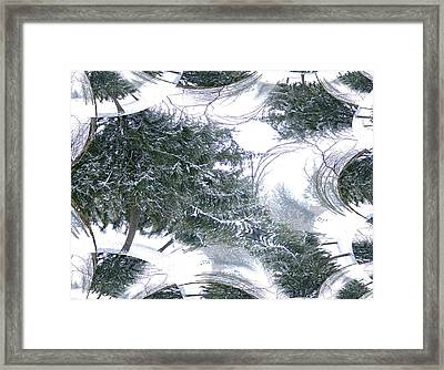 Framed Print featuring the photograph A Winter Fractal Land by Skyler Tipton
