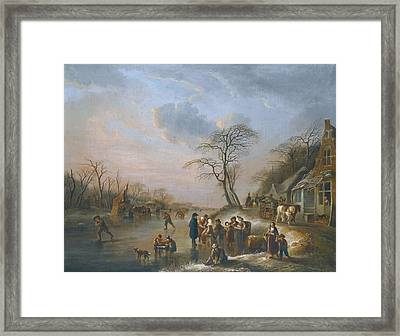 A Winter Landscape Framed Print by Celestial Images