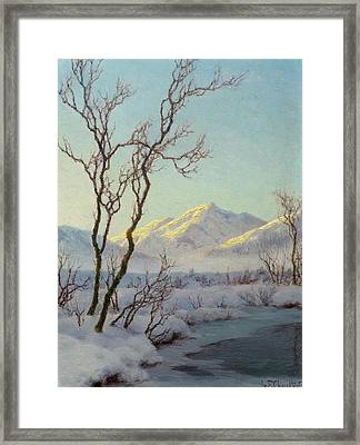 A Winter Morning In The Engadin Framed Print by MotionAge Designs