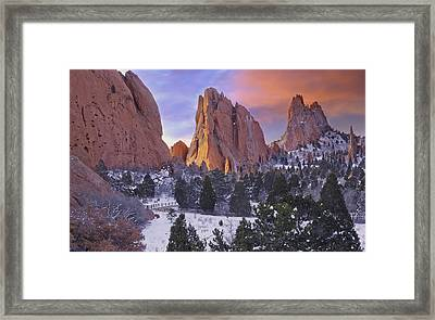 A Winter Morning Framed Print by Tim Reaves