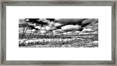 Framed Print featuring the photograph A Winter Panorama by David Patterson