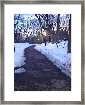 A Winter Scene In The City Framed Print