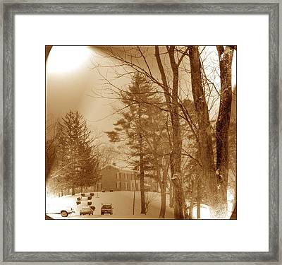 Framed Print featuring the photograph A Winter Scene by Skyler Tipton
