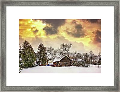 A Winter Sky - Paint Framed Print by Steve Harrington