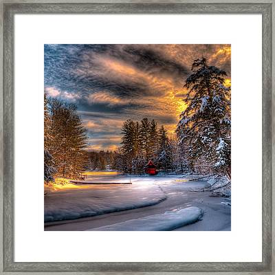 A Winter Sunset Framed Print