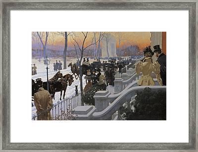 A Winter Wedding Washington Square Framed Print