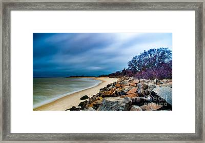 A Winter's Beach Framed Print