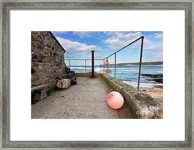 A Winters Day In Sennen Cove Framed Print by Terri Waters